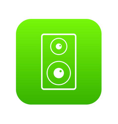 Subwoofer icon digital green vector
