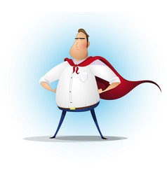 superhero businessman concept of success vector image