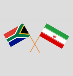 The south african and iranian flags vector