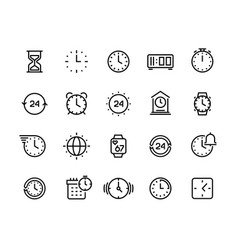 time line icons clock calendar timer watch and vector image
