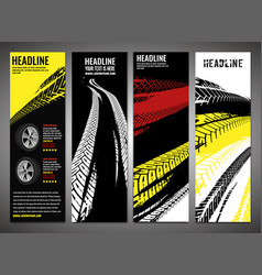 tire brochures set-02 vector image