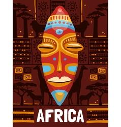 Tribal Ethnic Mask Template vector