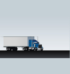 Truck rides on abstract highway classic big vector