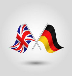 two crossed british and german flags vector image