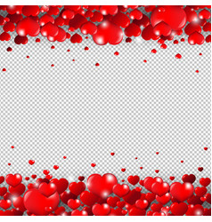valentines day border isolated transparent vector image