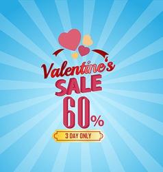 valentines day sale 60 Percent typographic vector image