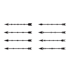 vintage black arrow set vector image