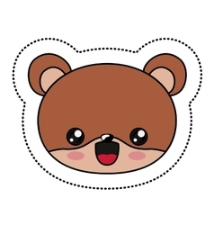 Beaver kawaii cartoon design vector