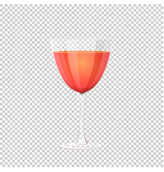glass of red wine on vector image vector image