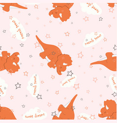 pattern dinosaur sleep vector image