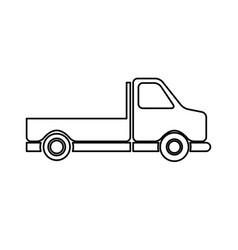 Pick-up truck classic truck cargo transport line vector