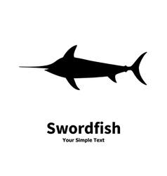 silhouette of swordfish vector image vector image