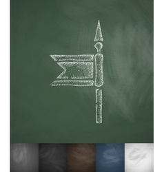 spear icon Hand drawn vector image