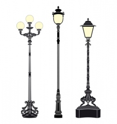 street lamps vector image vector image