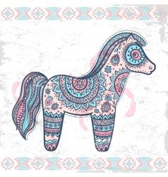 Vintage ethnic horse vector image