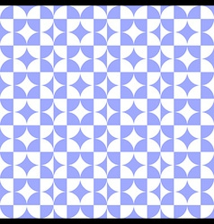 Abstract Circle Square Pattern Blue vector image vector image
