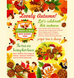 autumn banner template with fall nature leaf vector image vector image