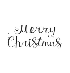 merry christmas text calligraphic design vector image