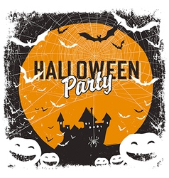 halloween party flyer isolate vector image vector image