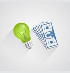 idea of money vector image