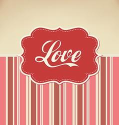 retro love vector image vector image
