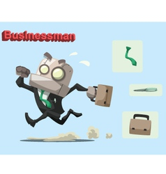 robot businessman vector image vector image