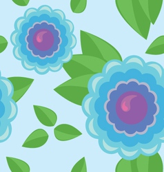 Seamless pattern - color flower vector image vector image