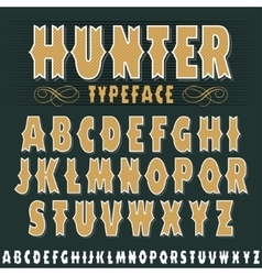 Vintage alphabet font Old style typeface vector image vector image