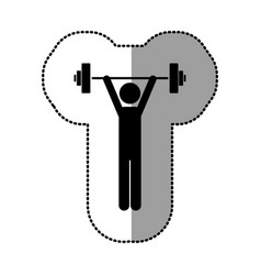 black person lifting weights gym vector image vector image