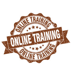 Online training stamp sign seal vector