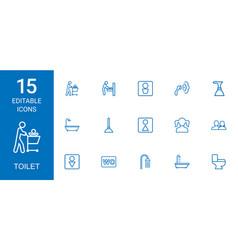15 toilet icons vector