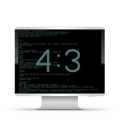 4 to 3 monitor white background vector image
