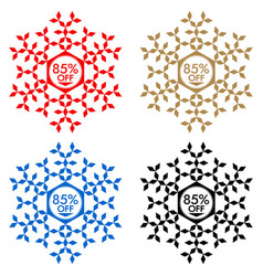 85 off discount sticker snowflake 85 off sale vector image