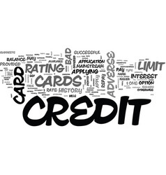 Adverse credit credit cards text word cloud vector