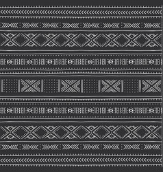 African seamless pattern with geometric figures vector