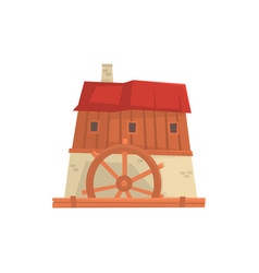 ancient windmill medieval building cartoon vector image