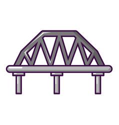 Arched train bridge icon cartoon style vector