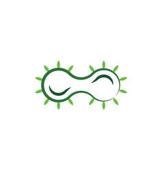 Bacteria cell division icon logo vector