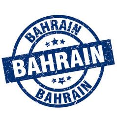 Bahrain blue round grunge stamp vector