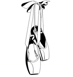 Ballet pointe shoes vector
