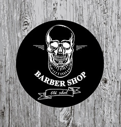 Barber shop label icon vector image