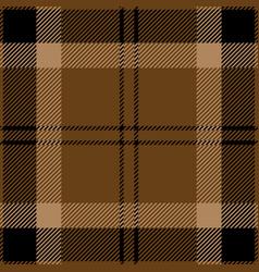 Black and brown tartan plaid seamless pattern vector