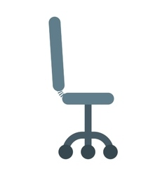 Black leather office chair furniture seat vector image
