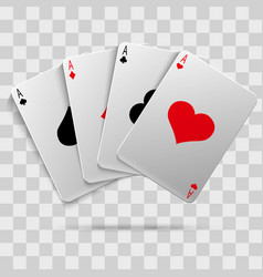 casino gambling poker blackjack - playing cards vector image