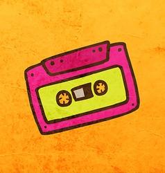 Cassette Cartoon vector image