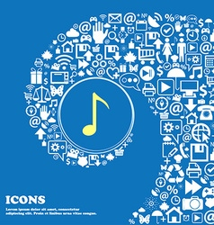 CD or DVD icon sign Nice set of beautiful icons vector