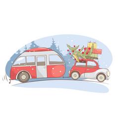 Christmas holiday winter vacations vector