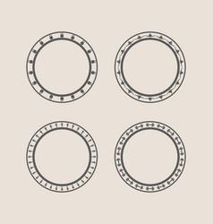 Circular stamps set vector
