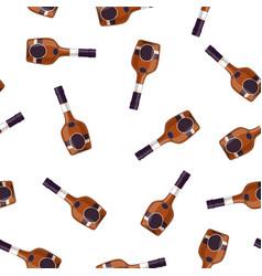 cognac alcohol bottle vector image