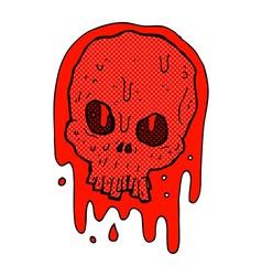 Comic cartoon bloody skull vector